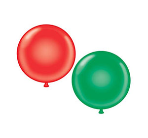 60 inch Giant Latex Balloons - Qty 2- (1) Red (1) Green
