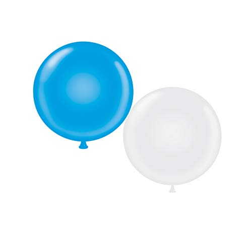 72 inch Giant Latex Balloons - Qty 2- (1) Blue (1) White