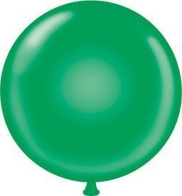 36 Inch Giant Round Green Latex Balloons (Premium Helium Quality) Pkg/10 by TUFTEX