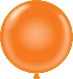 "72"" Orange Latex Balloon"