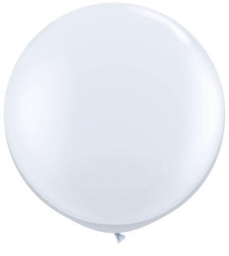 72 inch White Giant Latex Balloon - Qty 1