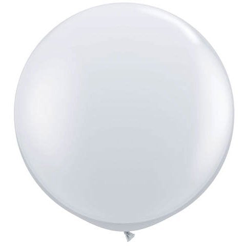36 Inch Giant Round Crystal Clear Latex Balloons by TUFTEX (Premium Helium Quality) Pkg/3