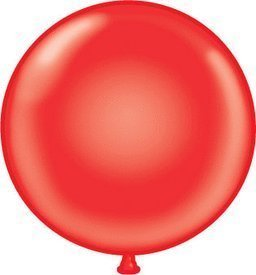 36 Inch Giant Round Red Latex Balloons (Premium Helium Quality) Pkg/10 by TUFTEX