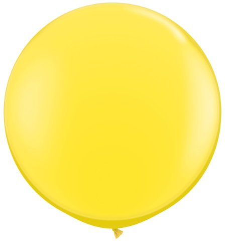 72 inch Yellow Giant Latex Balloon - Qty 1