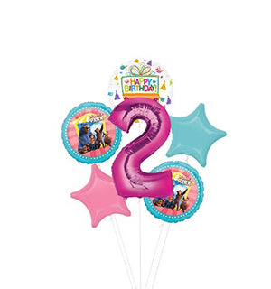 Mayflower Products Wonder Park Party Supplies 2nd Birthday Balloon Bouquet Decorations - Pink Number 2