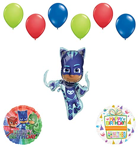 Mayflower Products PJ Masks Catboy Birthday Party Supplies Balloon Bouquet Decorations