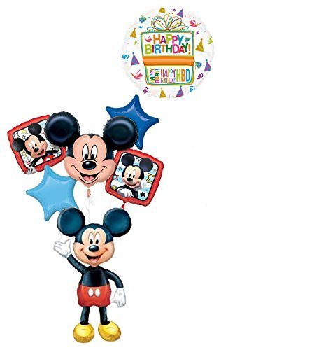 The Ultimate Mickey Mouse Airwalker Birthday Party Supplies and 6pc Balloon Bouquet Decorations