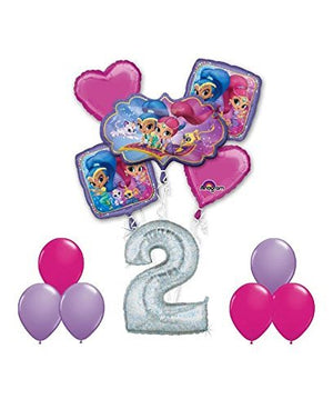 SHIMMER AND SHINE Happy 2nd Birthday Party 12 pc Balloons Decoration Supplies