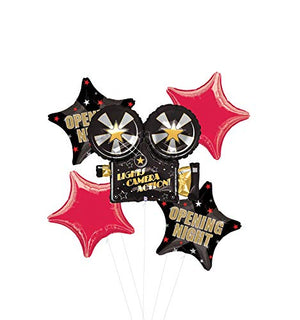 Opening Night Movie Party Supplies Balloon Bouquet Decorations Hollywood Oscars Lights, Camera, Action