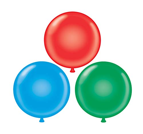 60 inch Giant Latex Balloons - Qty 3- (1) Red (1) Green (1) Blue