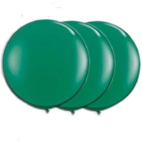 36 Inch Giant Round Green Latex Balloons by TUFTEX (Premium Helium Quality) Pkg/3
