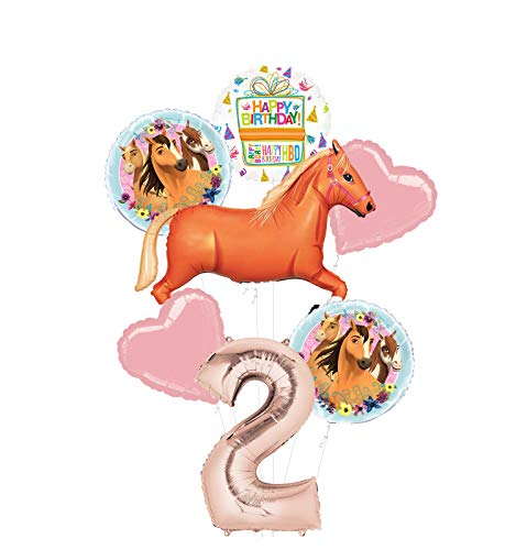 Mayflower Products Spirit Riding Free Party Supplies 2nd Birthday Tan Horse Balloon Bouquet Decorations