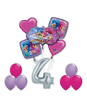 SHIMMER AND SHINE Happy 4th Birthday Party 12 pc Balloons Decoration Supplies by Anagram