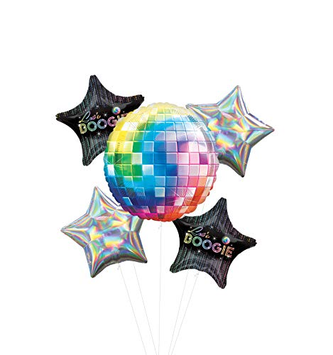70's Disco Fever Dance Party Supplies Let's Boogie Balloon Bouquet Decorations