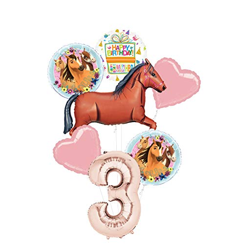 Mayflower Products Spirit Riding Free Party Supplies 3rd Birthday Brown Horse Balloon Bouquet Decorations