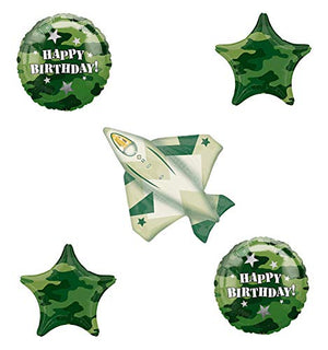 Fighter Jet Camouflage Party Supplies Birthday Balloon Bouquet Decorations
