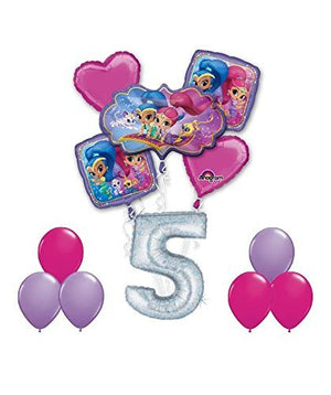 SHIMMER AND SHINE Happy 5th Birthday Party 12 pc Balloons Decoration Supplies by Anagram