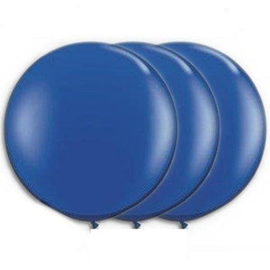 36 Inch Giant Round Sapphire Blue Latex Balloons by TUFTEX (Premium Helium Quality) Pkg/3