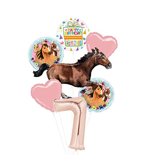 Mayflower Products Spirit Riding Free Party Supplies 7th Birthday Galloping Horse Balloon Bouquet Decorations