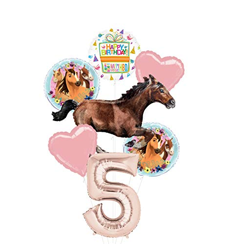 Mayflower Products Spirit Riding Free Party Supplies 5th Birthday Galloping Horse Balloon Bouquet Decorations