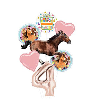 Mayflower Products Spirit Riding Free Party Supplies 4th Birthday Galloping Horse Balloon Bouquet Decorations