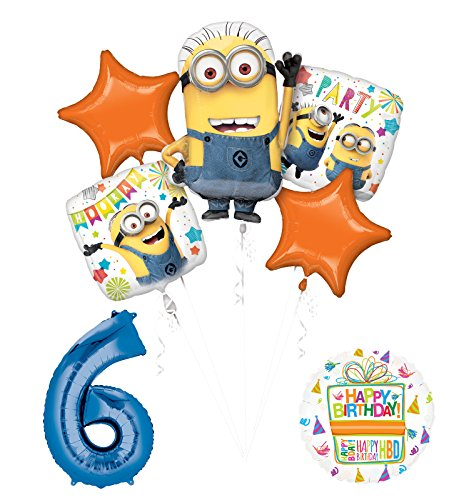 Despicable Me 3 Minions 6th Birthday Party Supplies and balloon Decorations