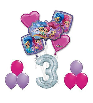 SHIMMER AND SHINE Happy 3rd Birthday Party 12 pc Balloons Decoration Supplies