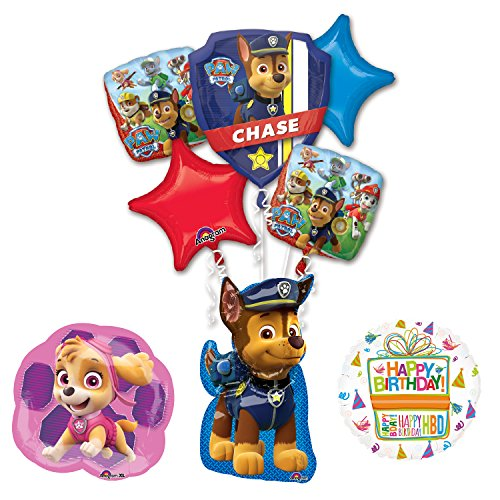 The Ultimate Paw Patrol Chase, Sky and Everest Birthday Party Supplies and Balloon Decorations