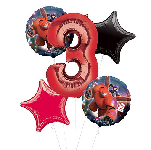 Mayflower Products Big Hero 6 Party Supplies 3rd Birthday Balloon Bouquet Decorations