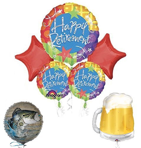 "Retirement Party Supplies and Balloon Bouquet Decoration Kit ""GOING FISHING"""