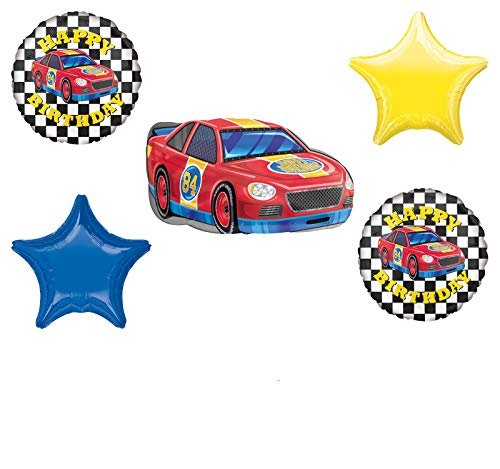 Race Car Theme Birthday Party Supplies Stock Car Balloon Bouquet Decorations