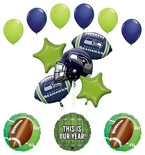 Mayflower Products Seattle Seahawks Football Party Supplies This is Our Year Balloon Bouquet Decoration