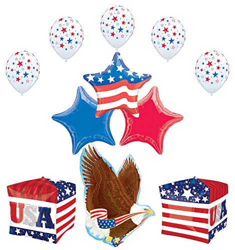Mayflower Products Patriotic Party Supplies 4th of July USA Eagle Stars and Stripes Balloon Bouquet Decorations