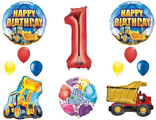 The Ultimate Construction 1st Birthday Party Supplies and Balloon Decorations