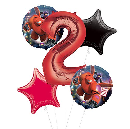 Mayflower Products Big Hero 6 Party Supplies 2nd Birthday Balloon Bouquet Decorations