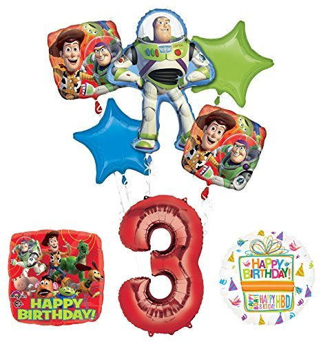Toy Story 3rd Birthday Party Supplies and Balloon Bouquet Decorations