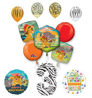 Lion Guard Party Supplies 3rd Birthday Balloon Bouquet Decorations