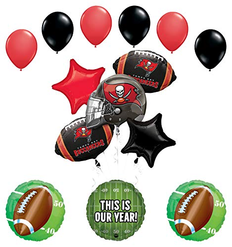 Mayflower Products Tampa Bay Buccaneers Football Party Supplies This is Our Year Balloon Bouquet Decoration
