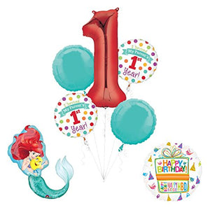 "Little Mermaid ""I Survived My Parents First Year"" 1st Birthday Party Supplies and Balloon Decorations"