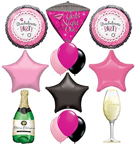 "Bachelorette Party Supplies and Balloon Decorations ""Girls Night Out Champagne Celebration"""