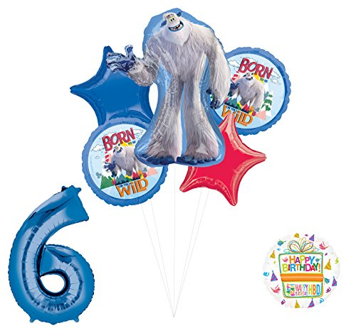 Smallfoot 6th Birthday Balloon Bouquet Decorations and Party Supplies