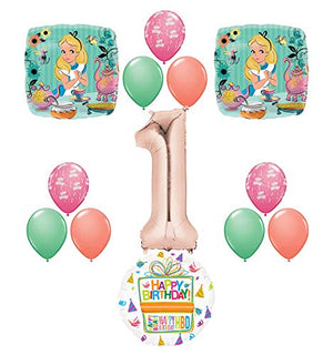 Alice in Wonderland Tea Time 1st Birthday Party Supplies Mad Hatter Balloons Decoration