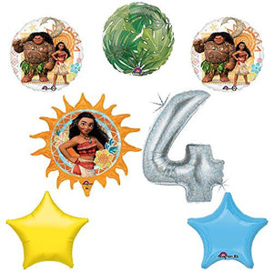 Disney Moana 4th Holographic Birthday Party Balloon Supplies Decoration Kit