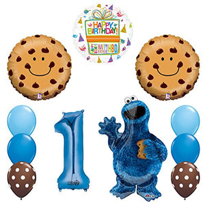 NEW! Sesame Street Cookie Monsters 1st Birthday party supplies and Balloon Decorations