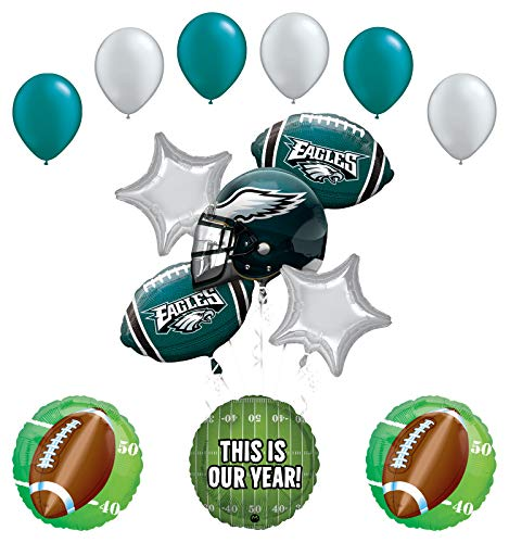 Mayflower Products Philadelphia Eagles Football Party Supplies This is Our Year Balloon Bouquet Decoration