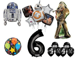 The Ultimate Star Wars 6th Birthday Party Supplies and Balloon decorations