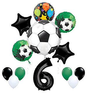Mayflower Products Soccer Party Supplies 6th Birthday Goal Getter Balloon Bouquet Decorations