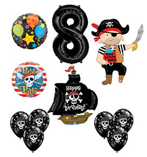 Mayflower Products Pirate 8th Birthday Party Supplies Balloon Bouquet Decorations