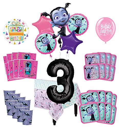 Mayflower Products Vampirina 3rd Birthday Party Supplies 16 Guest Decoration Kit and Balloon Bouquet 90 pc