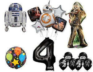 The Ultimate Star Wars 4th Birthday Party Supplies and Balloon decorations
